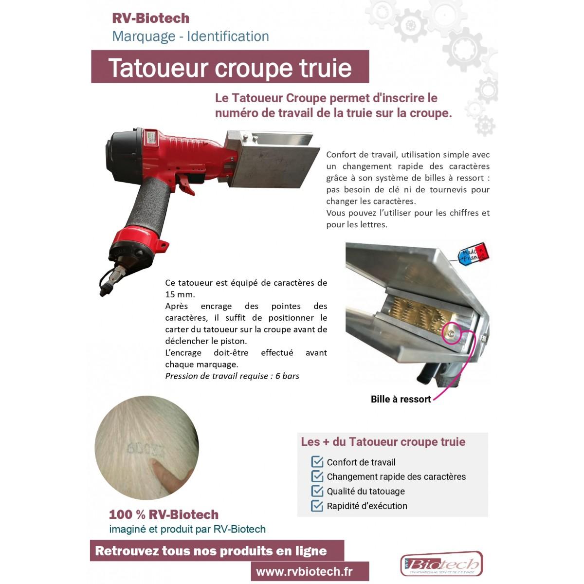 Tatoueur croupe truies RV Biotech BROCHURE